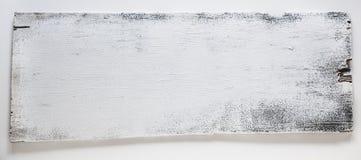 Tarjeta de la muestra, madera rústica, blanca Imágenes de archivo libres de regalías