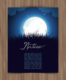 Tarjeta de la naturaleza con la hierba Imagen de archivo