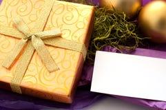 Tarjeta de la Navidad o del Año Nuevo para el texto Fotos de archivo