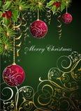 Tarjeta de la Navidad y del Año Nuevo stock de ilustración