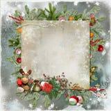 Tarjeta de la Navidad y del Año Nuevo Foto de archivo