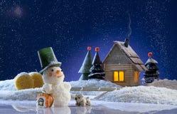 Tarjeta de la Navidad y del Año Nuevo Fotos de archivo libres de regalías