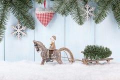 Tarjeta de la Navidad y del Año Nuevo Fotografía de archivo libre de regalías