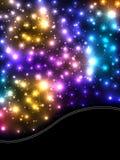 Tarjeta de la onda ligera de la flor Imagen de archivo