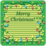 Tarjeta de la plantilla del diseño de la Navidad Foto de archivo libre de regalías