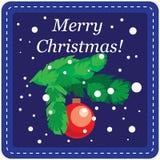 Tarjeta de la plantilla del diseño de la Navidad Fotos de archivo libres de regalías