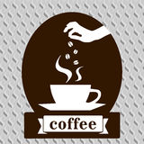 Tarjeta de la plantilla del diseño del arte del café Fotografía de archivo libre de regalías