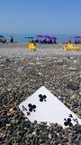 Tarjeta de la playa Imágenes de archivo libres de regalías