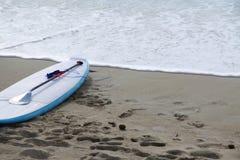 Tarjeta de la playa y de resaca Fotografía de archivo libre de regalías