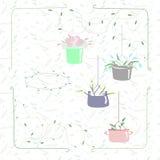 Tarjeta de la primavera con las flores foto de archivo libre de regalías