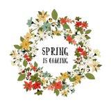 Tarjeta de la primavera del vector Foto de archivo libre de regalías