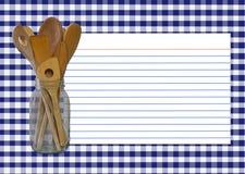 Tarjeta de la receta de la guinga de la marina Fotos de archivo