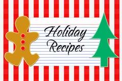 Tarjeta de la receta del día de fiesta Fotos de archivo libres de regalías