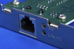 Tarjeta de la red de Ethernet Imagen de archivo libre de regalías