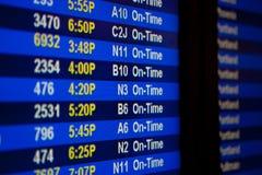 Tarjeta de la salida en el aeropuerto imagen de archivo libre de regalías