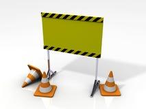 tarjeta de la seguridad 3D con los conos de la seguridad Ilustración del Vector
