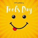 Tarjeta de la sonrisa de April Fools Day Fotos de archivo