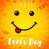 Tarjeta de la sonrisa de April Fools Day Imágenes de archivo libres de regalías