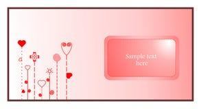 Tarjeta de la tarjeta del día de San Valentín Foto de archivo