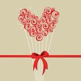 Tarjeta de la tarjeta del día de San Valentín stock de ilustración