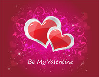 Tarjeta de la tarjeta del día de San Valentín Fotos de archivo