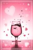 Tarjeta de la tarjeta del día de San Valentín Fotos de archivo libres de regalías