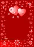 Tarjeta de la tarjeta del día de San Valentín Imagen de archivo