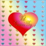 Tarjeta de la tarjeta del día de San Valentín Imágenes de archivo libres de regalías