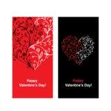 Tarjeta de la tarjeta del día de San Valentín con la forma del corazón para su diseño Fotografía de archivo libre de regalías