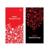 Tarjeta de la tarjeta del día de San Valentín con la forma del corazón para su diseño Foto de archivo libre de regalías