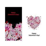 Tarjeta de la tarjeta del día de San Valentín con la forma del corazón para su diseño Imagen de archivo libre de regalías