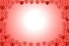 Tarjeta de la tarjeta del día de San Valentín con los corazones Fotos de archivo libres de regalías