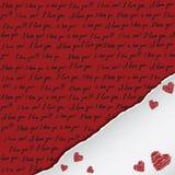 Tarjeta de la tarjeta del día de San Valentín con manuscrito Imagenes de archivo