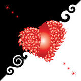 Tarjeta de la tarjeta del día de San Valentín, corazón, amor stock de ilustración