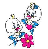 Tarjeta de la tarjeta del día de San Valentín del amor de los pájaros Foto de archivo libre de regalías