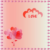 Tarjeta de la tarjeta del día de San Valentín del corazón Foto de archivo libre de regalías