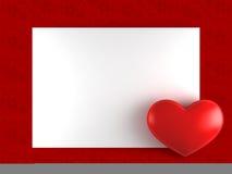 Tarjeta de la tarjeta del día de San Valentín del día con el corazón Libre Illustration
