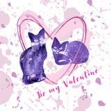 Tarjeta de la tarjeta del día de San Valentín del saludo Fotografía de archivo