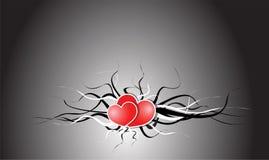 Tarjeta de la tarjeta del día de San Valentín del vector Imagen de archivo libre de regalías