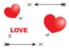 Tarjeta de la tarjeta del día de San Valentín del vector Fotografía de archivo libre de regalías