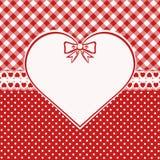 Tarjeta de la tarjeta del día de San Valentín del vintage Foto de archivo libre de regalías