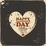 Tarjeta de la tarjeta del día de San Valentín del vintage Fotos de archivo