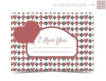 Tarjeta de la tarjeta del día de San Valentín para Valentine Day Fotos de archivo