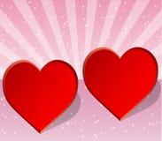Tarjeta de la tarjeta del d?a de San Valent?n, de la boda o del amor Imagen de archivo