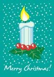 Tarjeta de la vela de la Navidad Imágenes de archivo libres de regalías