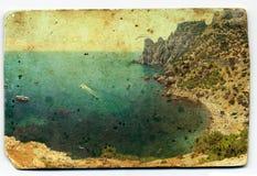 Tarjeta de la vendimia Fotos de archivo