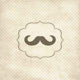 Tarjeta de la vendimia con el bigote Imagen de archivo