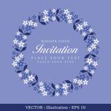 Tarjeta de la vendimia de la invitación. Imagenes de archivo