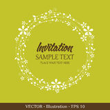 Tarjeta de la vendimia de la invitación. Imagen de archivo
