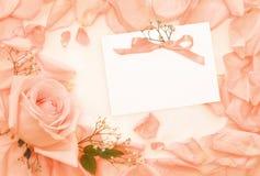 Tarjeta de la vendimia de la invitación imágenes de archivo libres de regalías